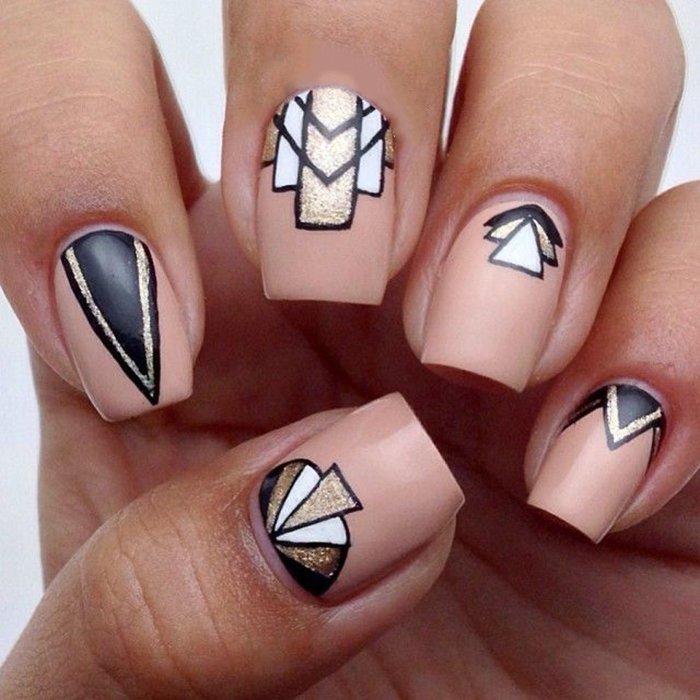 мастер фото рисунков на ногтях геометрические фигуры любопытное