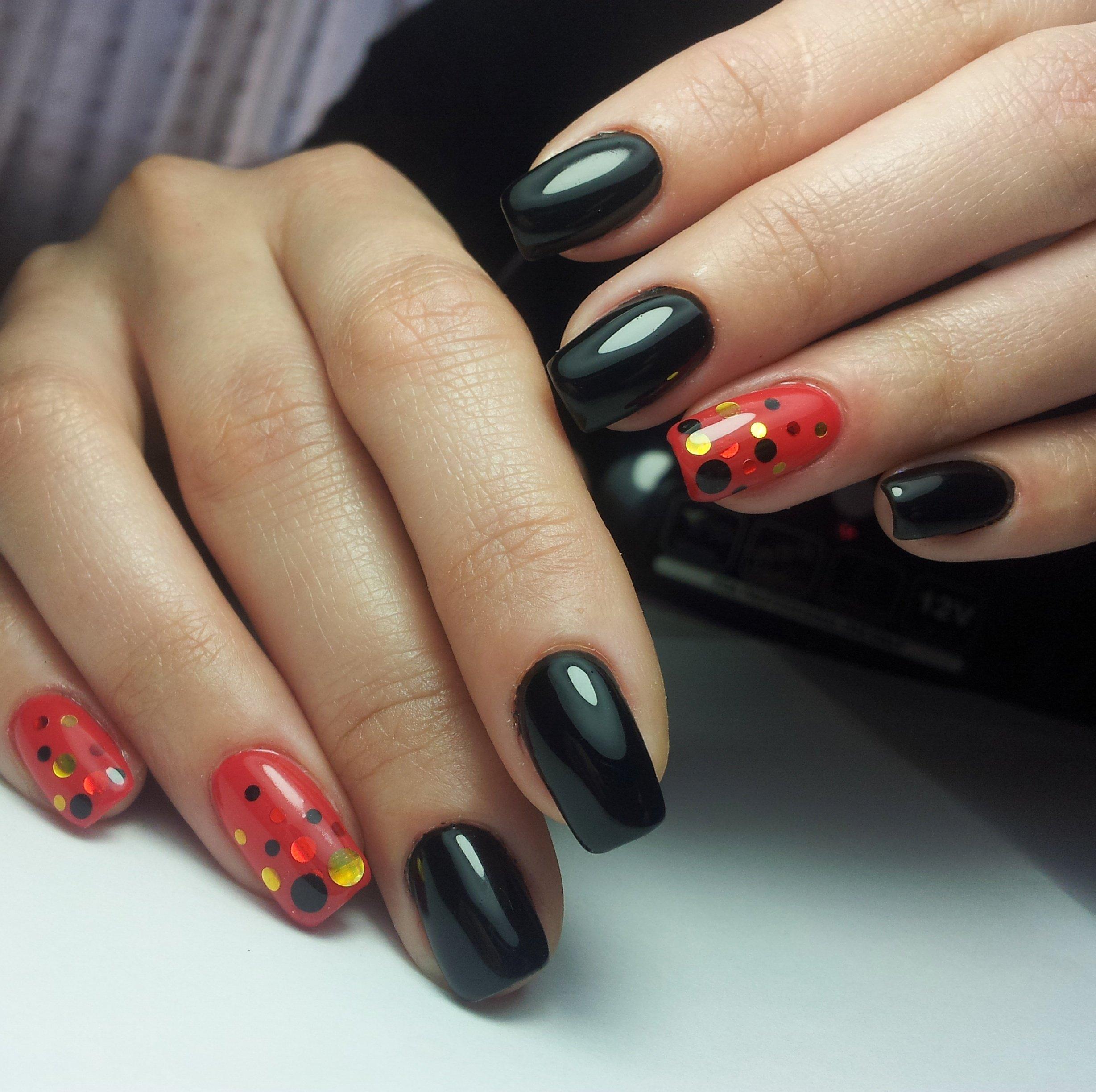 Красно черные ногти картинки