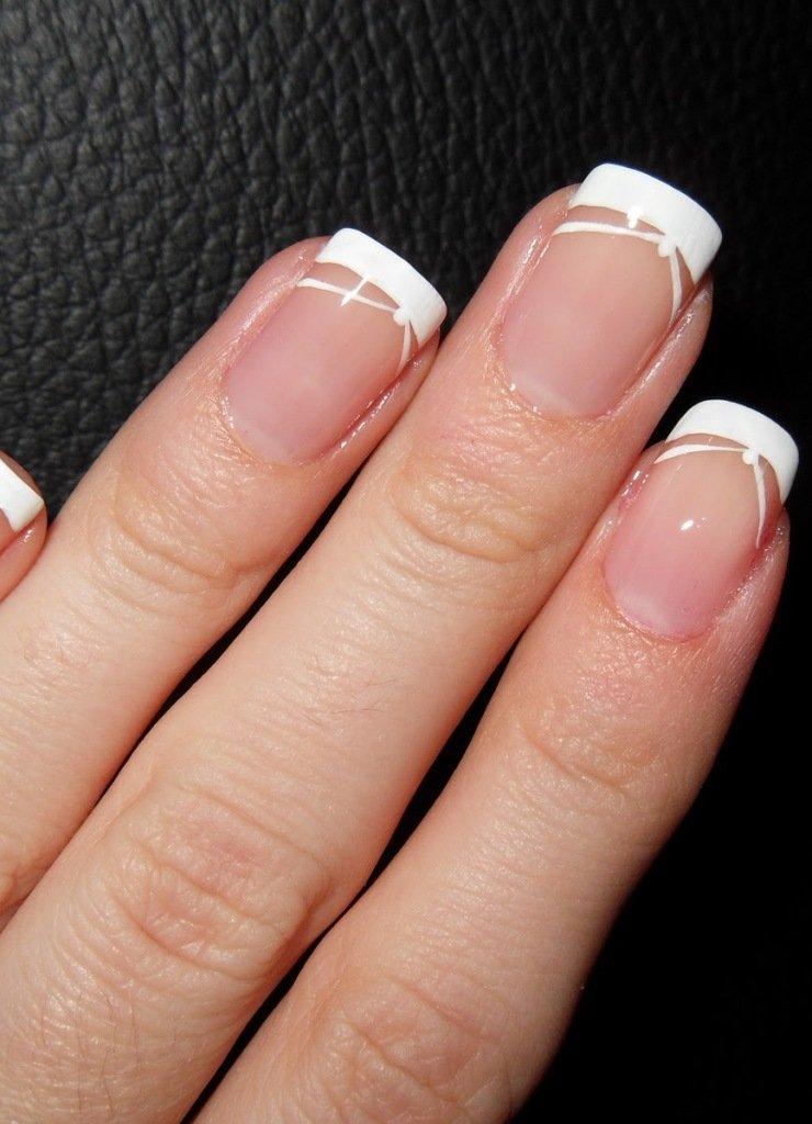 картинки французского маникюра на коротких ногтях