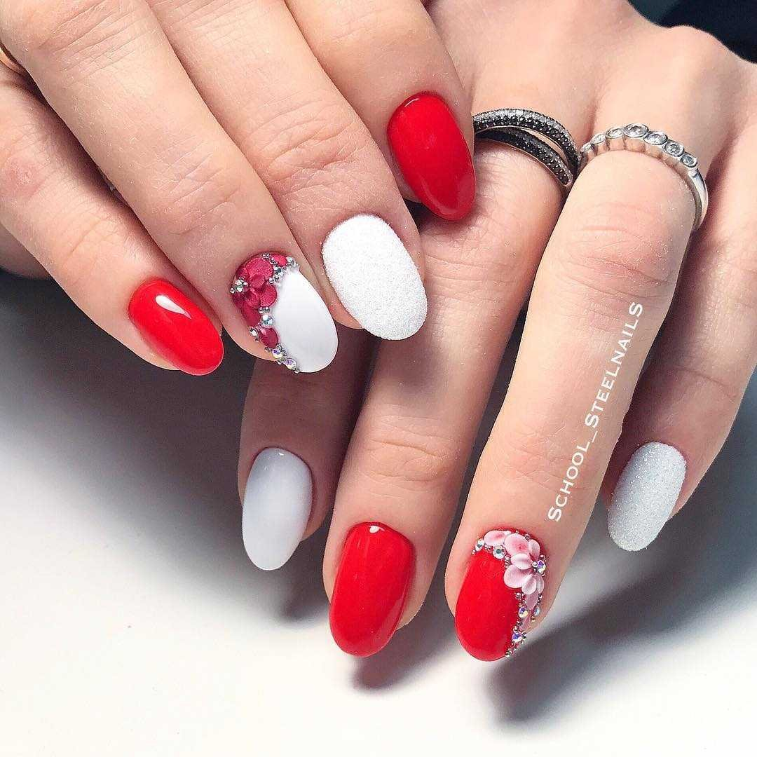 Красный маникюр на длинные ногти 2020 Красота и стиль Мода И