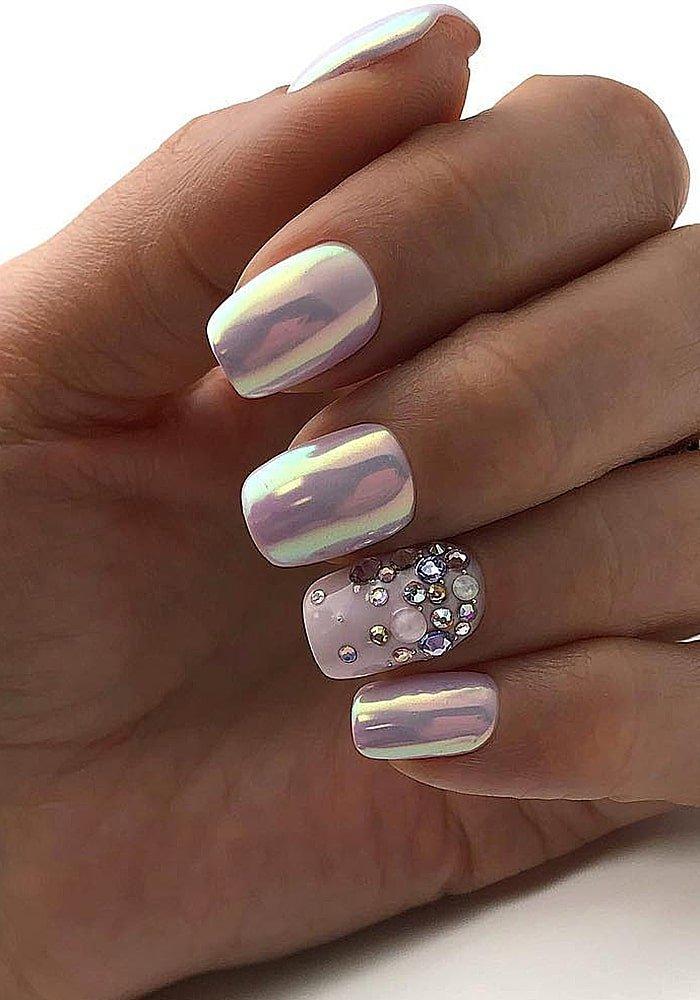 Перламутровый дизайн ногтей фото