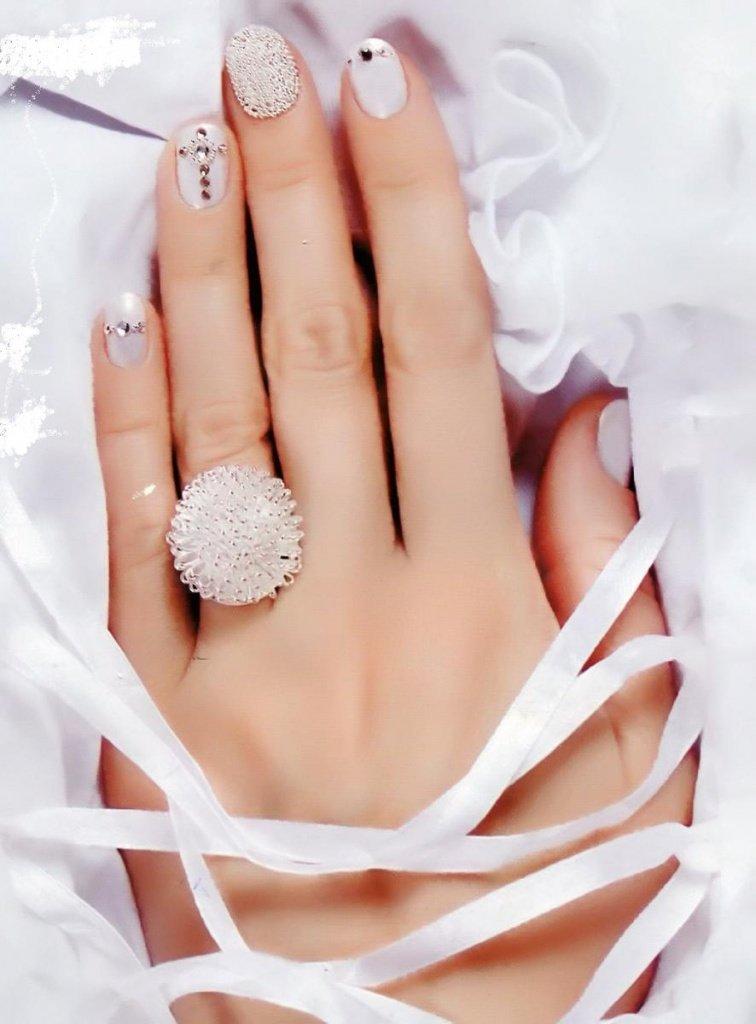 нижних маникюр на свадьбу невесте фото правой части