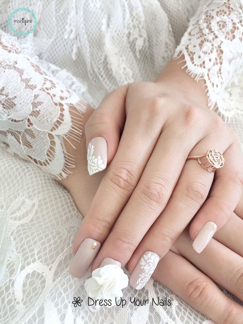 свадебный маникюр фото для невесты на короткие вполне можете