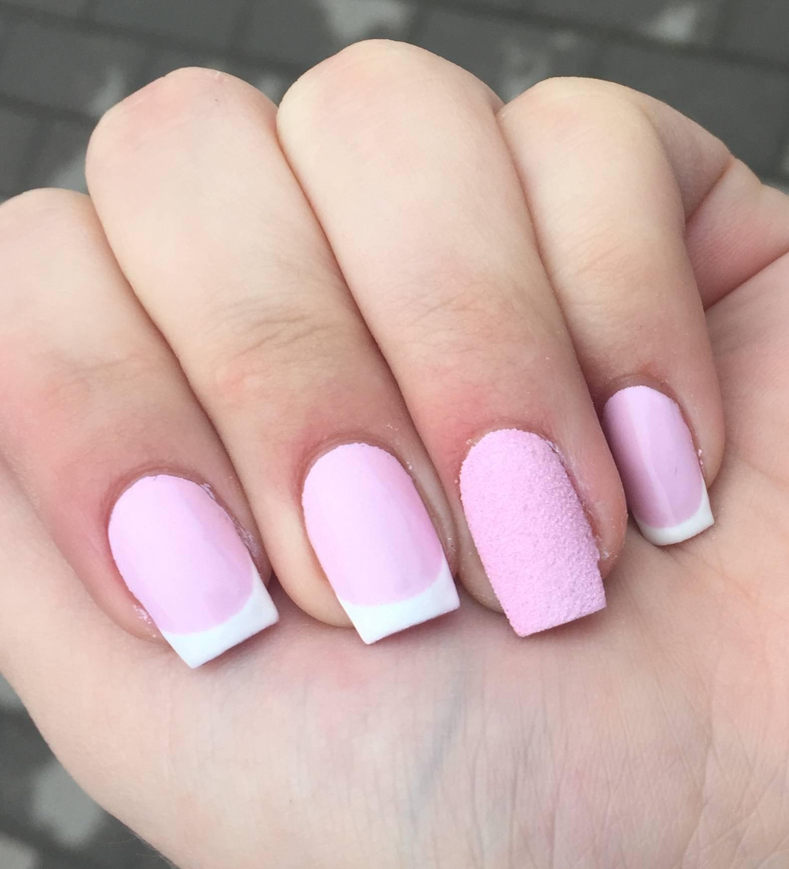 сделать розовые матовые ногти фото компании производство напитков