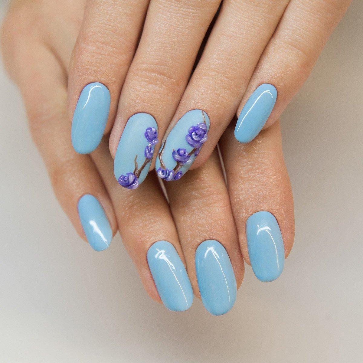 Ногти картинка голубые