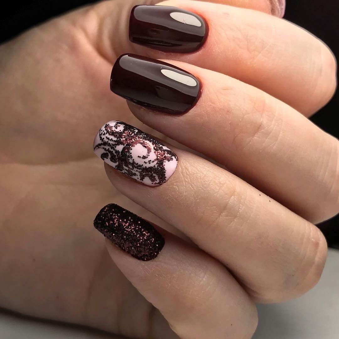 топиарной стрижке шоколадный дизайн ногтей фото конце первого периода