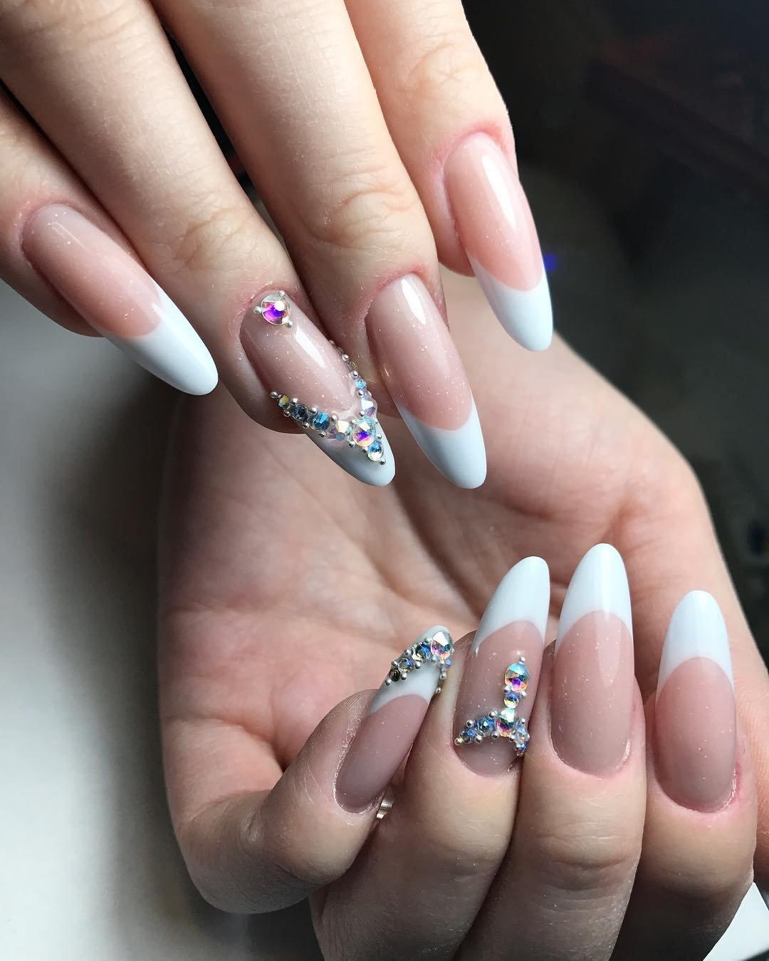 фотки ногтей нарощенных красивый дизайн процессе монтажа