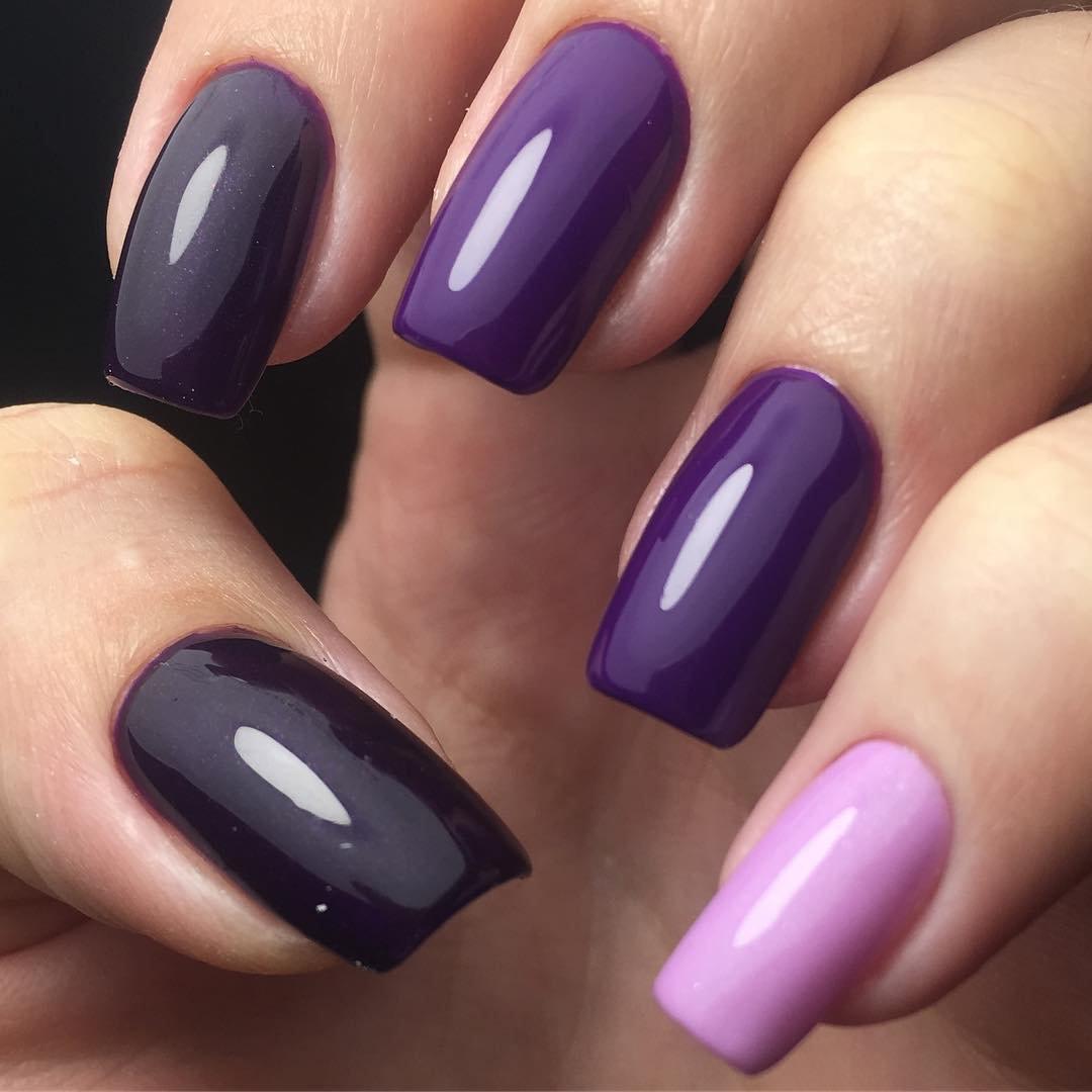 Фиолетовый маникюр и дизайн ногтей: 100+ идей и новинок 2018