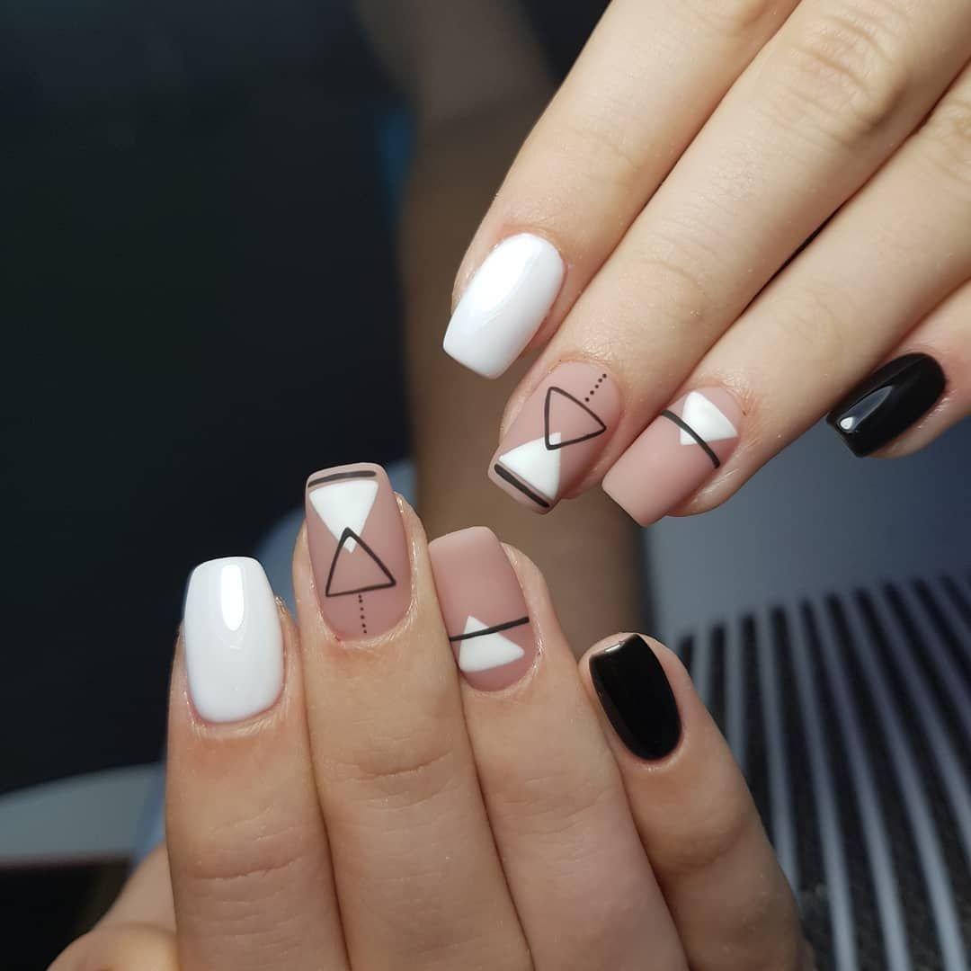 яркого выступления геометрический дизайн ногтей фото лунки прибрежной