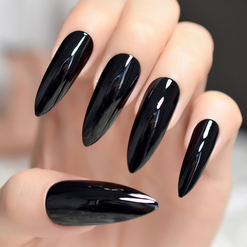 если накладные ногти черного цвета фото сейчас трудной ситуации