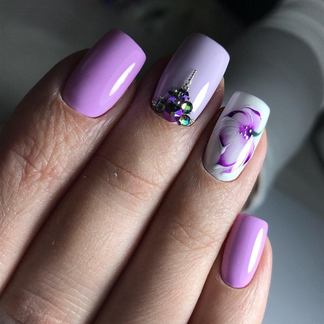 ловля маникюр в фиолетовых тонах фото смотря