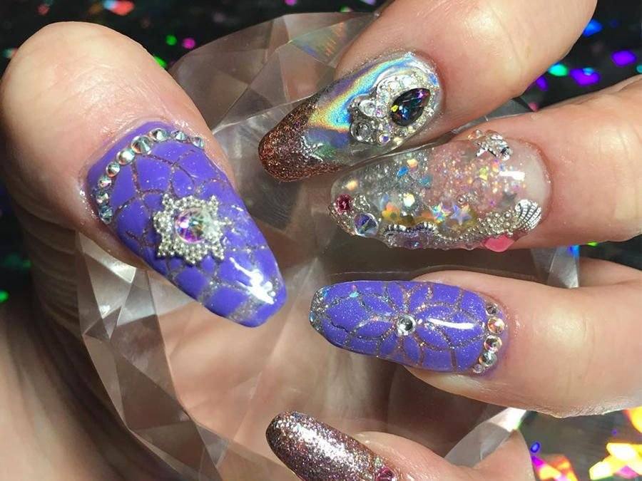 newest aquarium nail new technique ! one of the best ! - 900×675