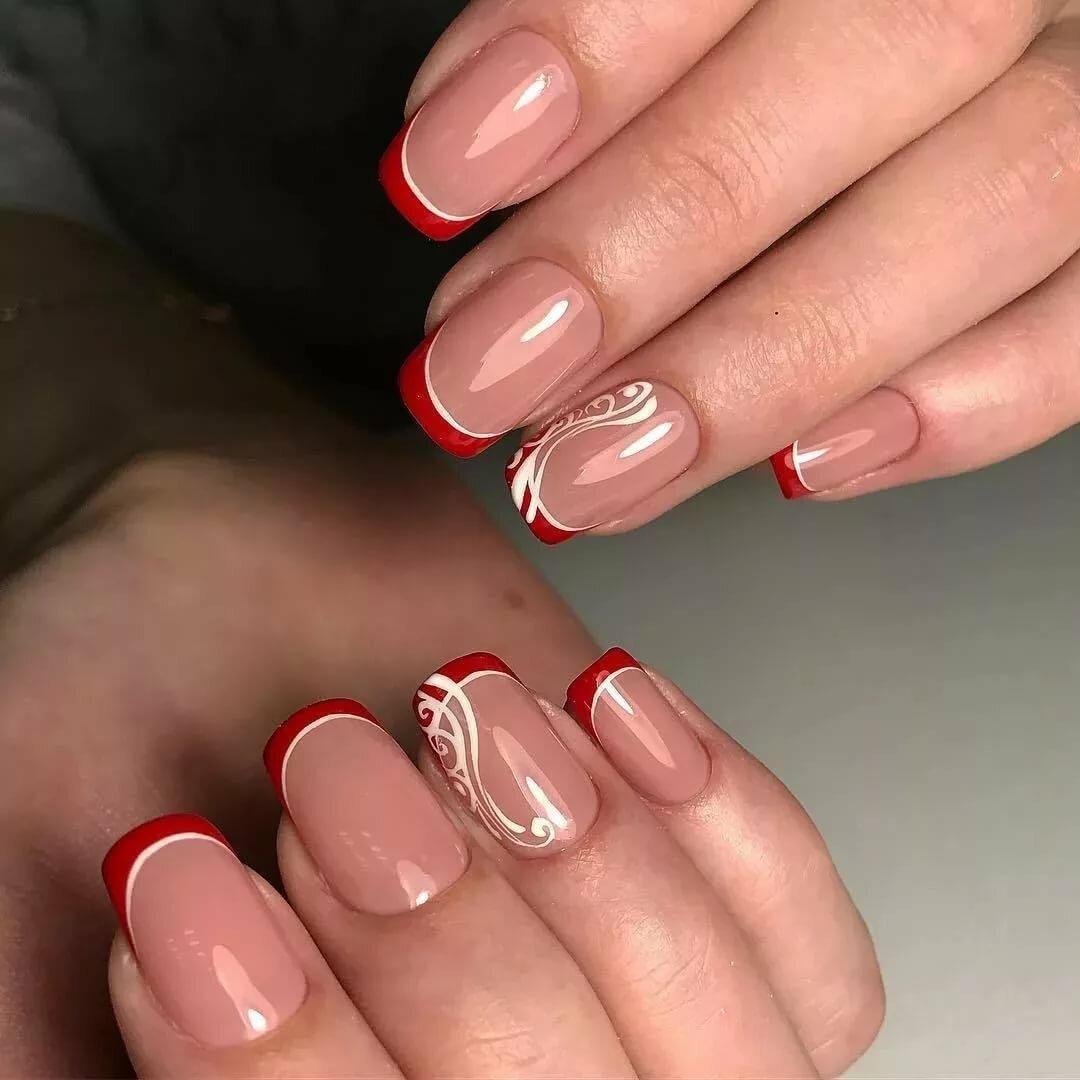 Фото с френчем ногти