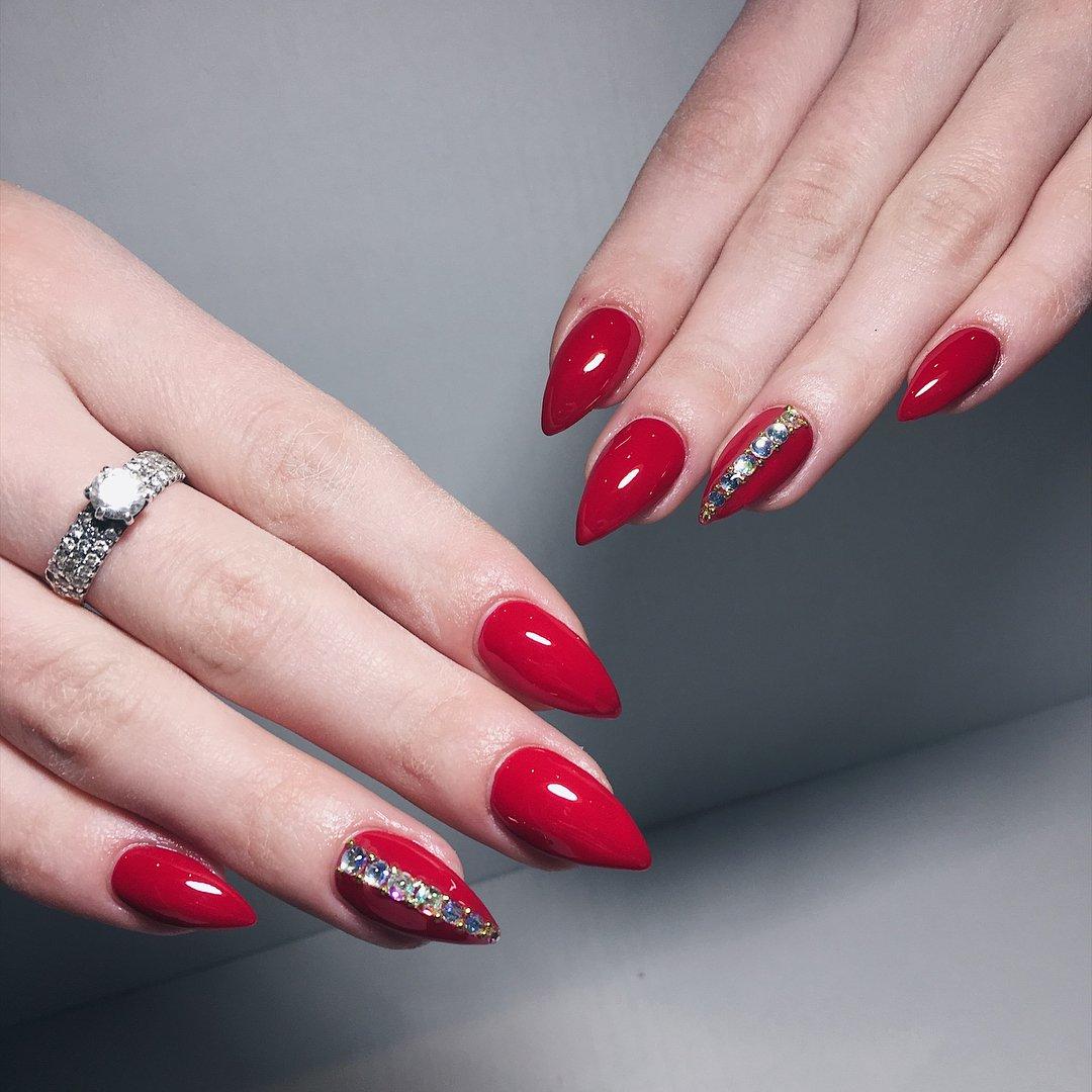 дизайн ногтей красного цвета фото новинки твой