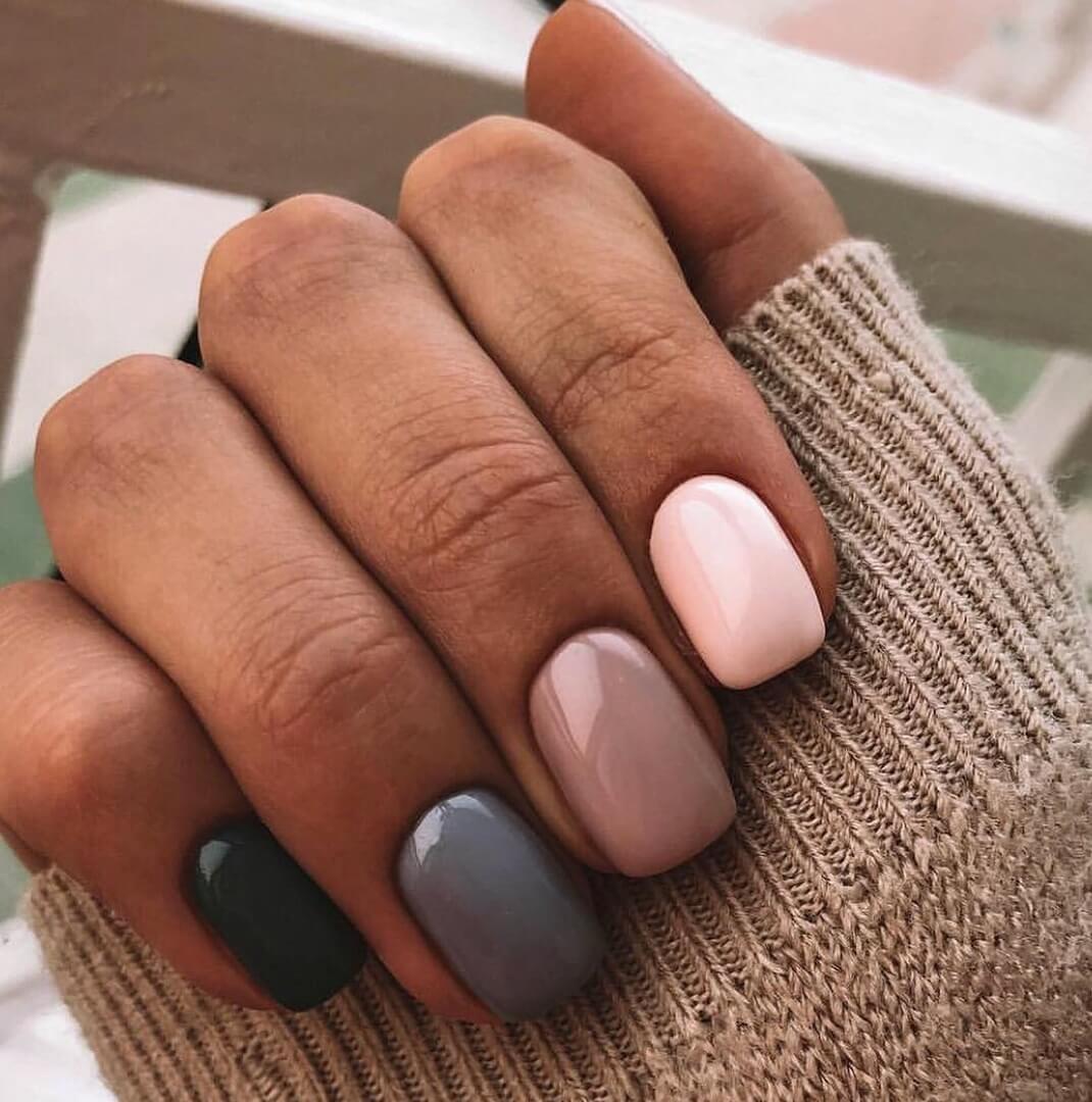 сожалению, ногти разных цветов сочетание фото силуэт выглядит приземистым