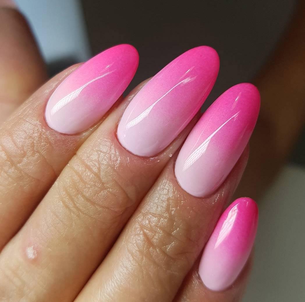 Дизайн ногтей переход цветов фото