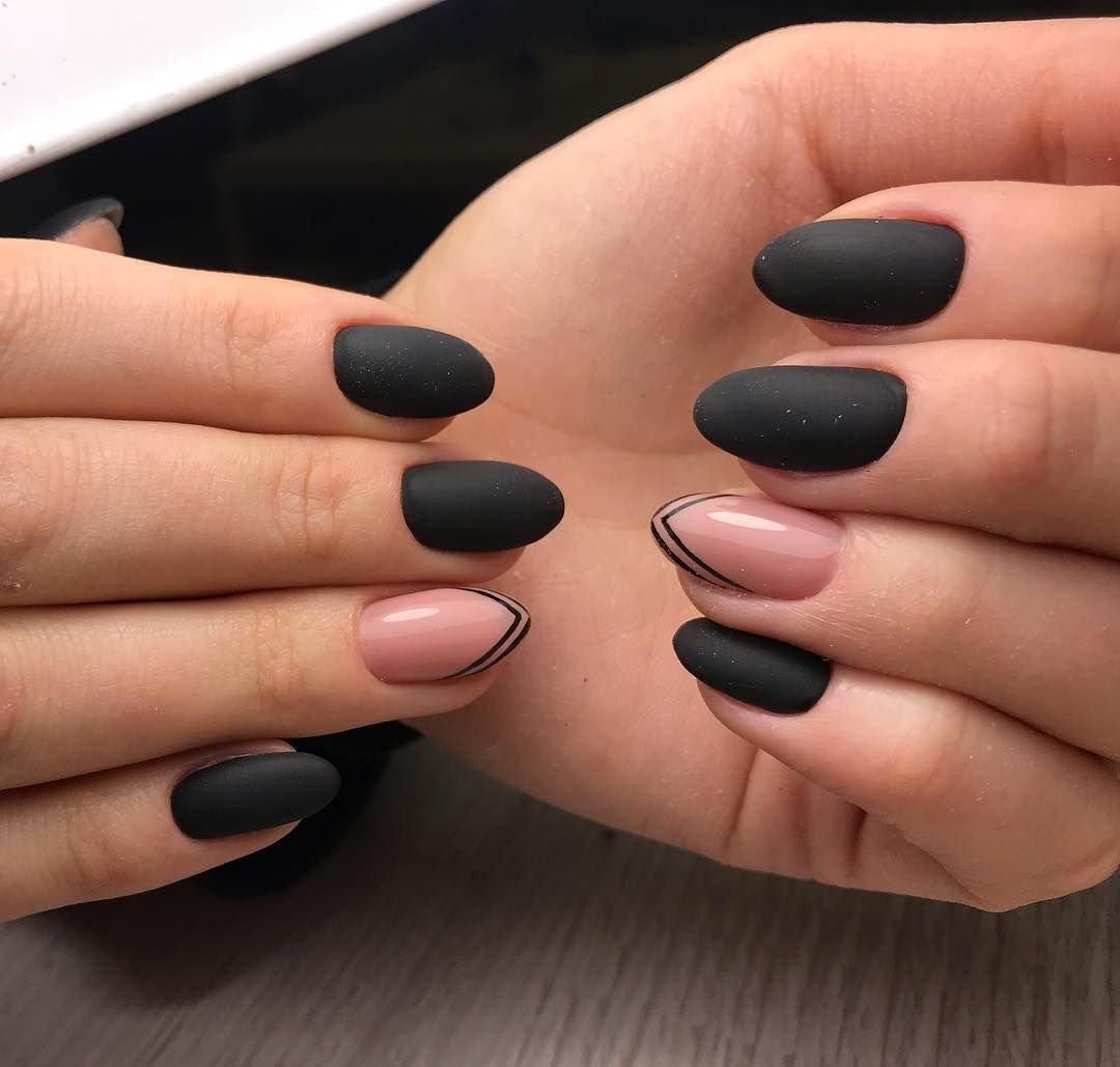 Матовые ногти картинка