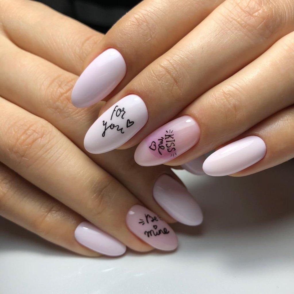 Фото ногтей с надписями новинки