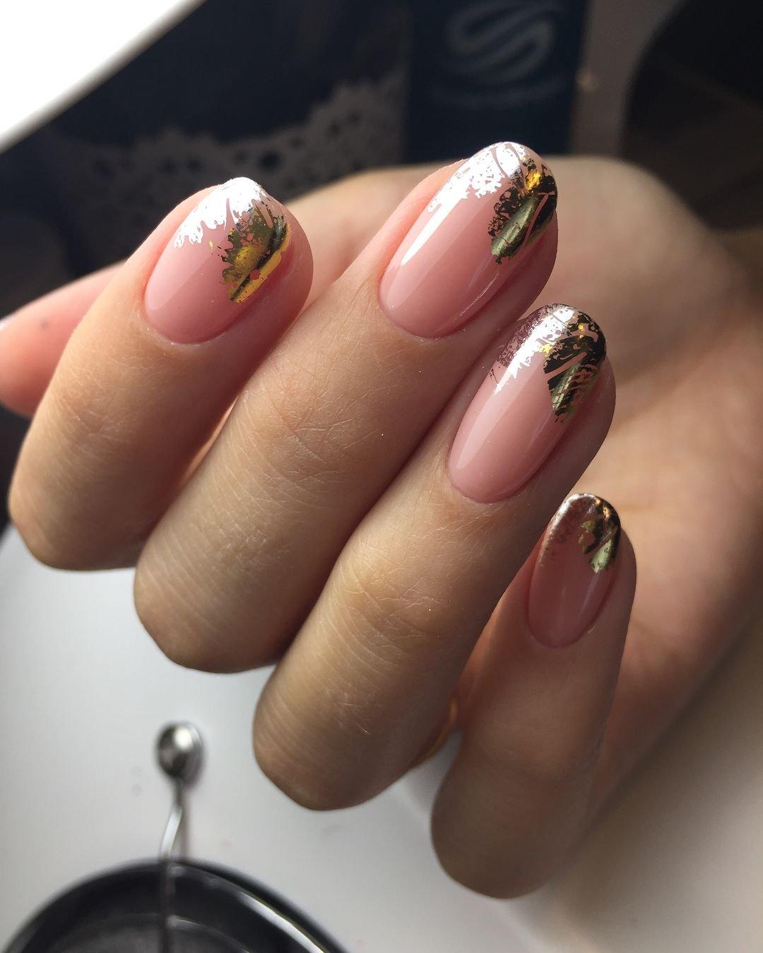 Картинки ногтей дизайн с фольгой