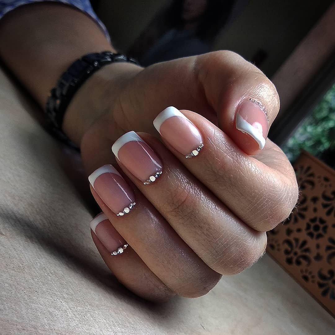 Картинки ногтей френч со стразами