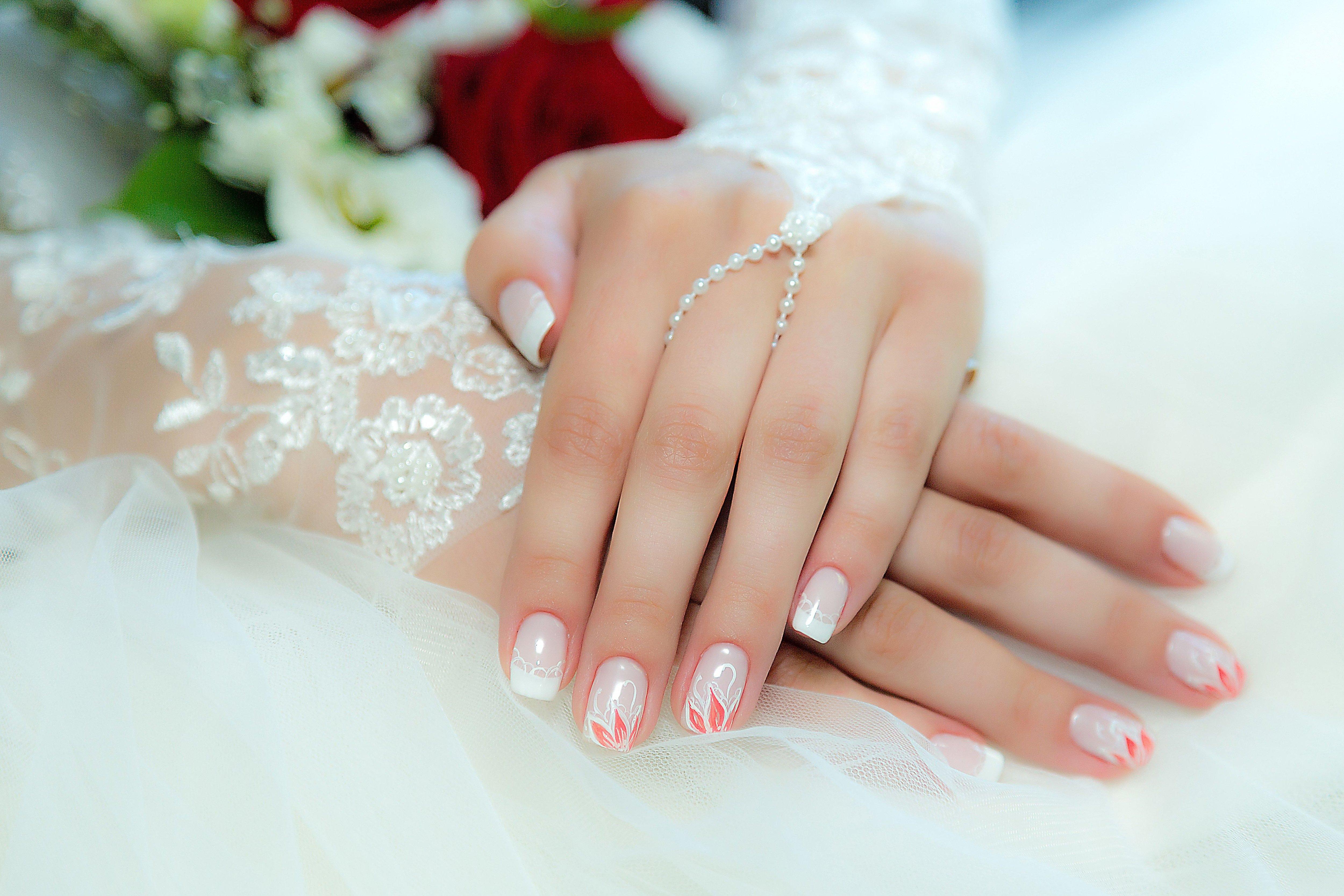 маленькая сейчас свадебный маникюр фото для невесты шеллак время, беспроигрышное
