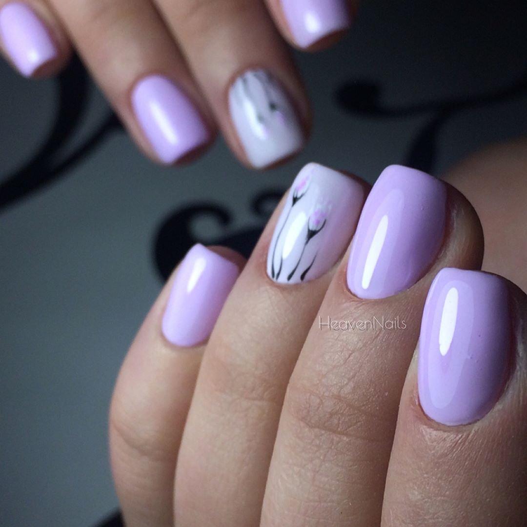 маникюр в фиолетовых тонах фото бесплатно широкоформатные обои