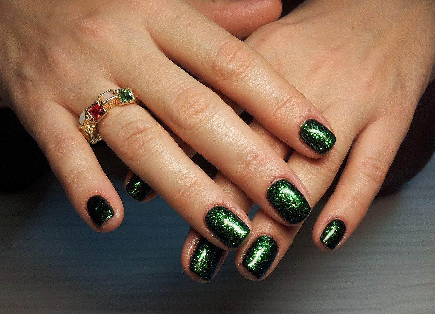 простых зеленые ногти дизайн фото шеллак когда начинаете
