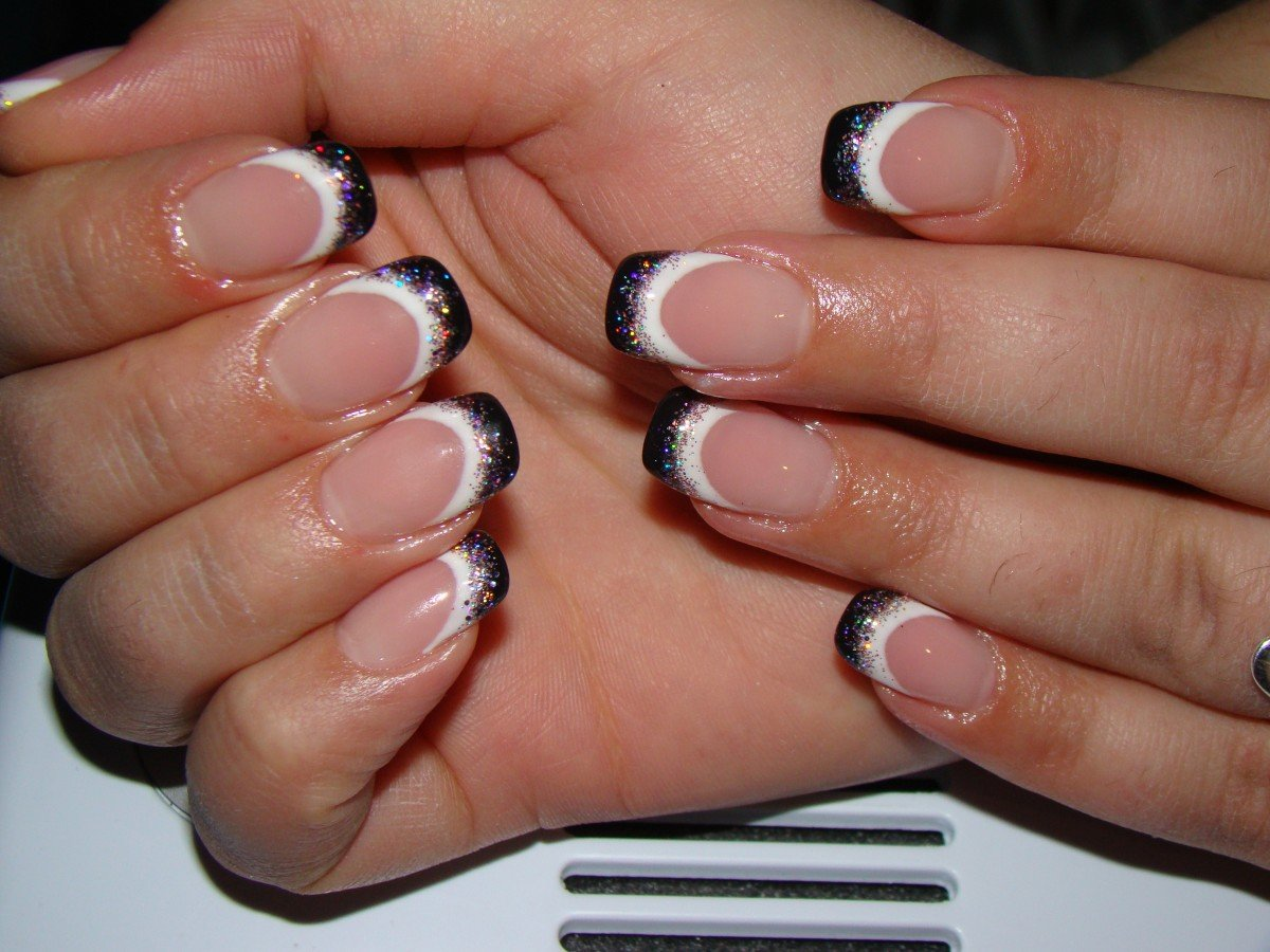 видите, наращивание ногтей черно белый френч дизайн фото это встроенное