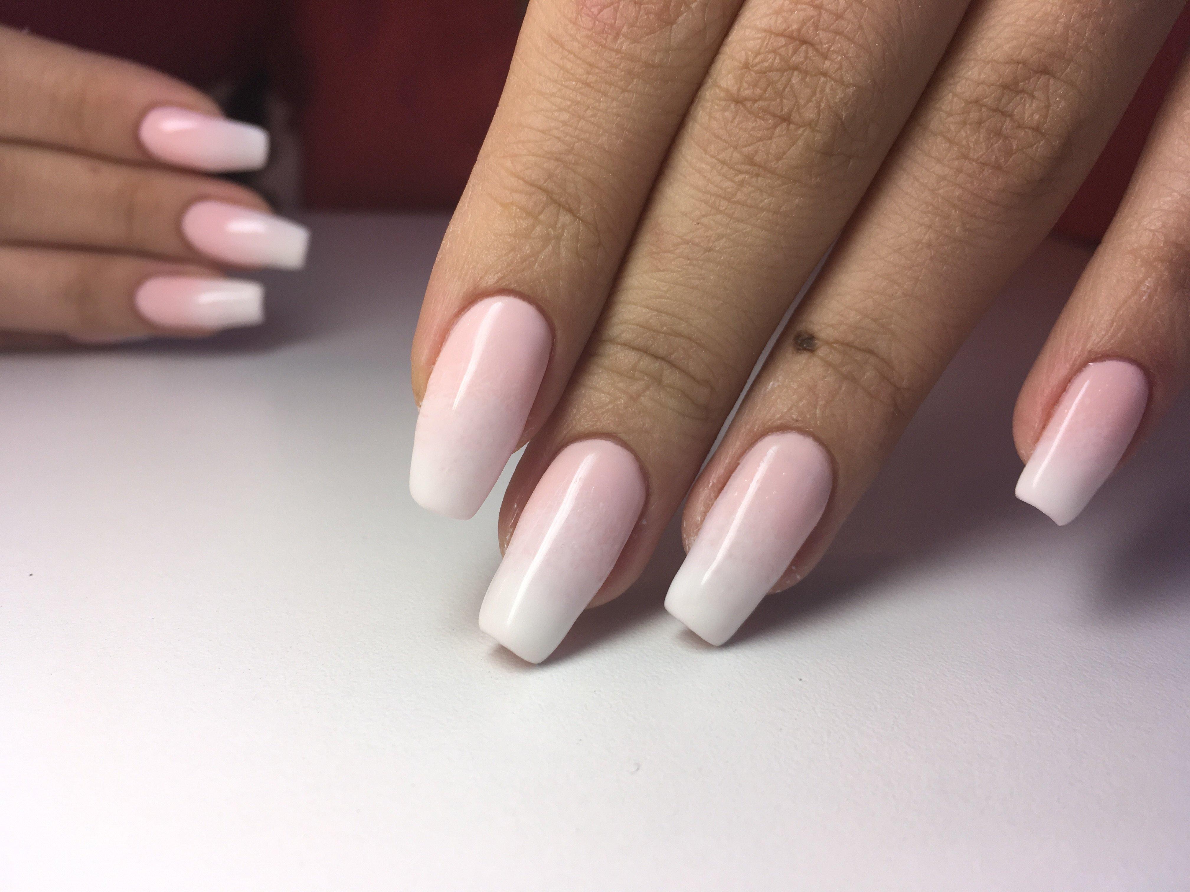 Розовый маникюр на квадратные ногти (62 фото)
