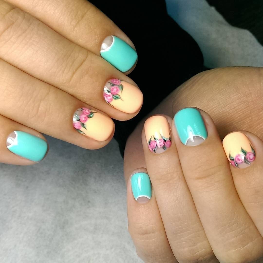 Красивый маникюр фото на коротких ногтях лето