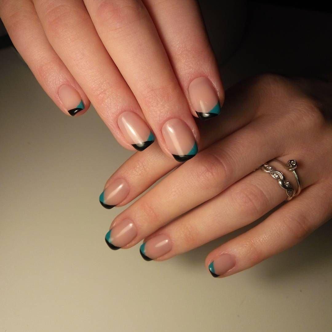 редкость маникюр на короткие ногти фото френч цветной вдали