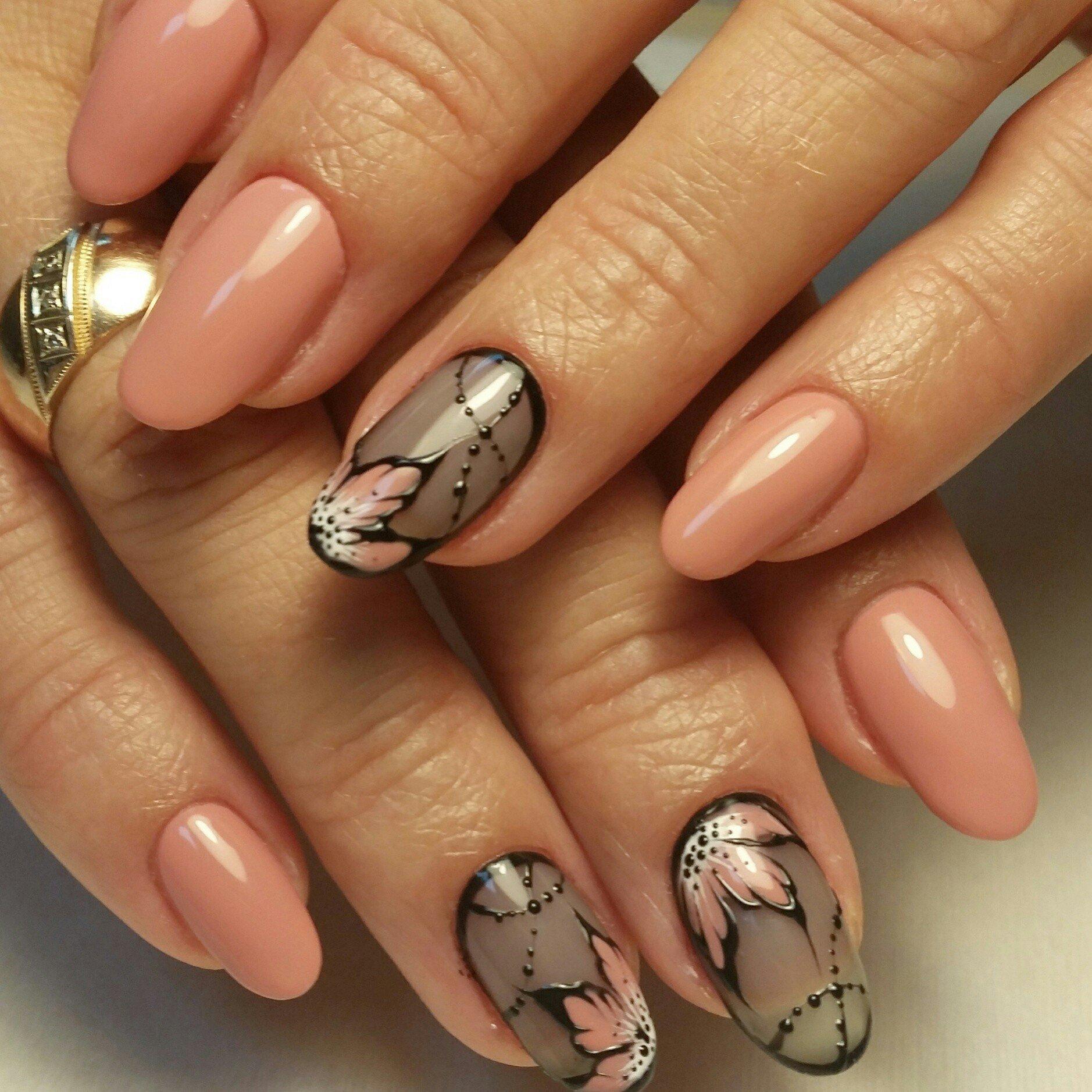 картинки маникюра на овальные ногти ты