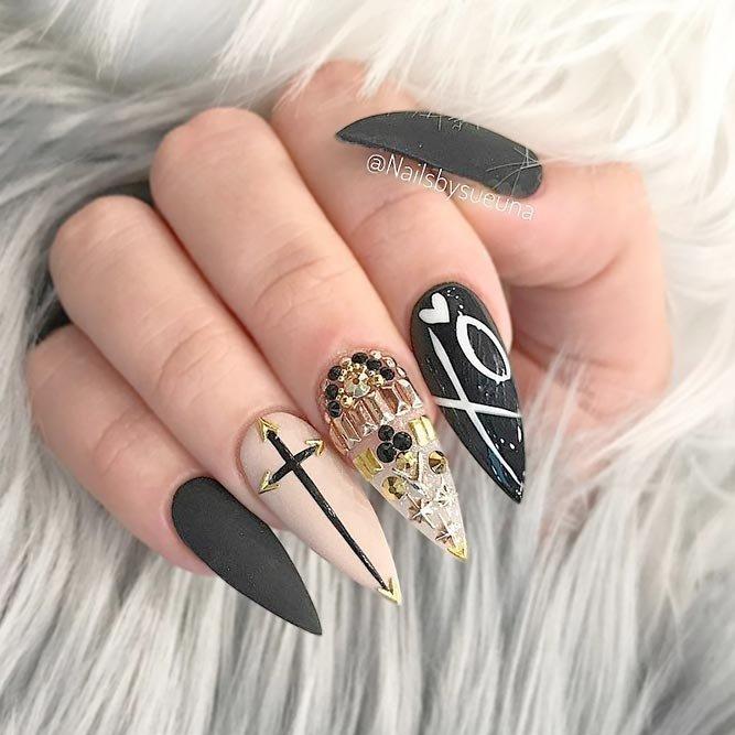 картинки острых ногтей с дизайном трешер сегодня корее существуют