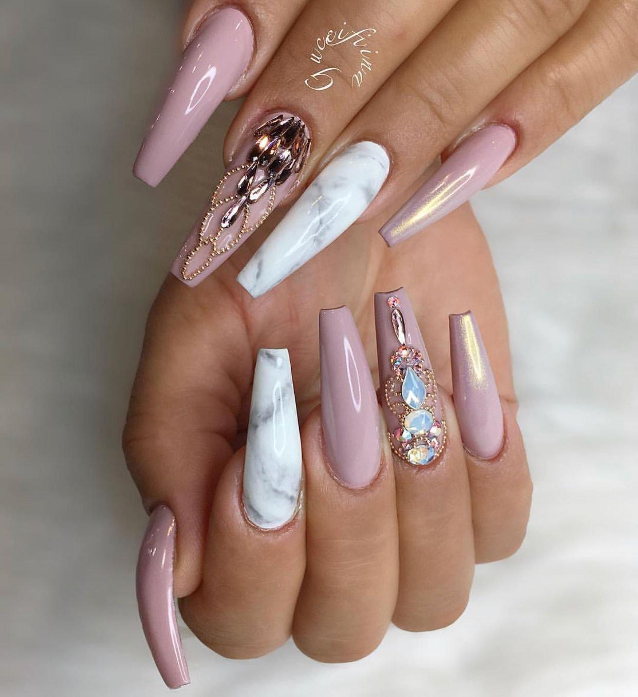 Картинки ногтей формы балерина