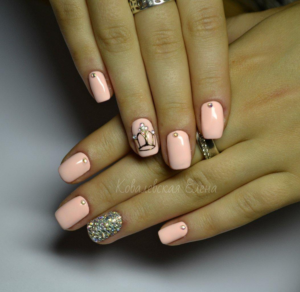 Рисунки на ногтях корона фото