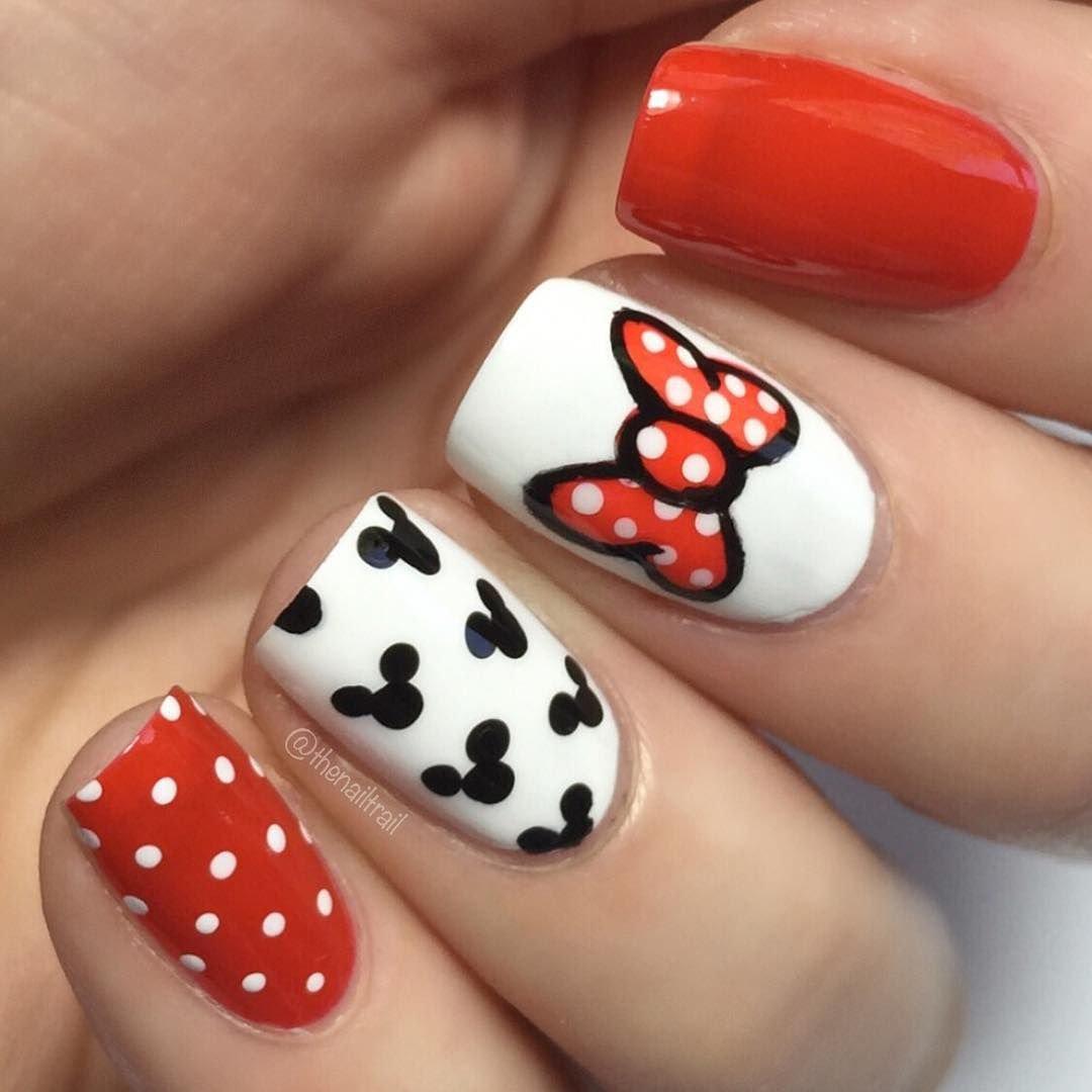 Картинка микки мауса на ногтях