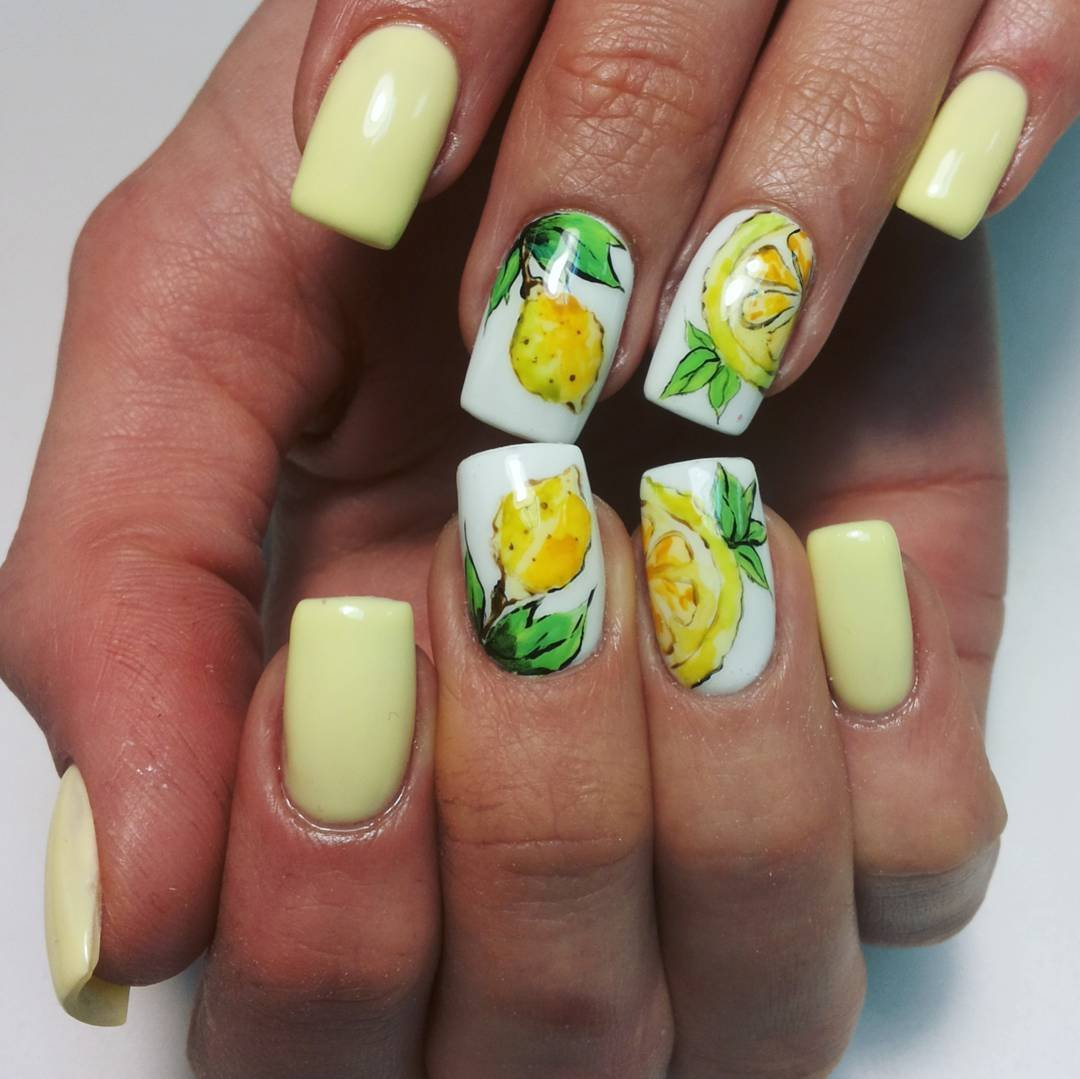 дизайн ногтей лимончики фото фото морского