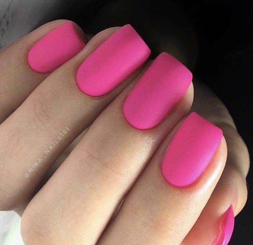 розовые матовые ногти фото курсор место