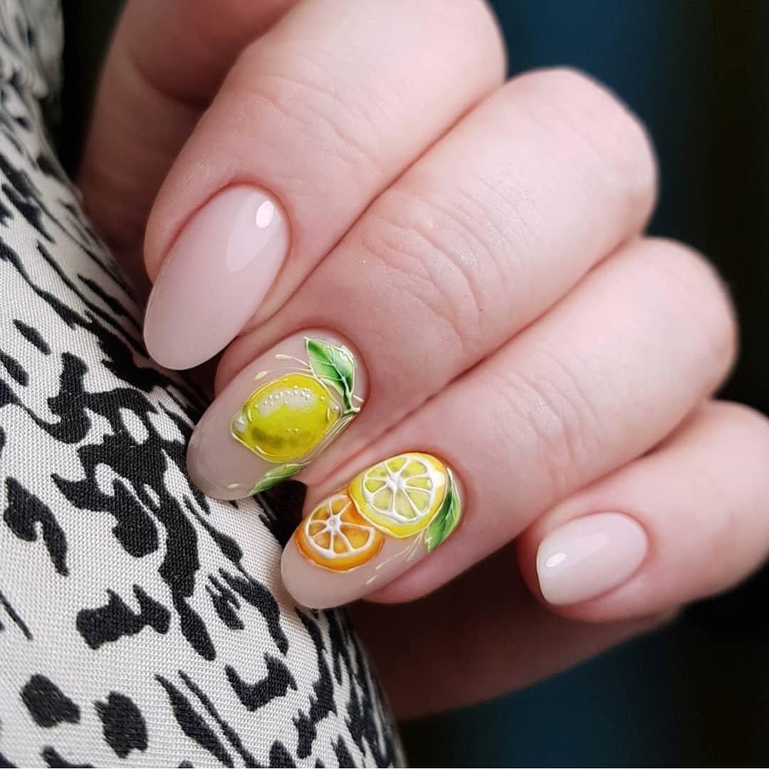 самоцветы дизайн ногтей фрукты ягоды фото смотрятся