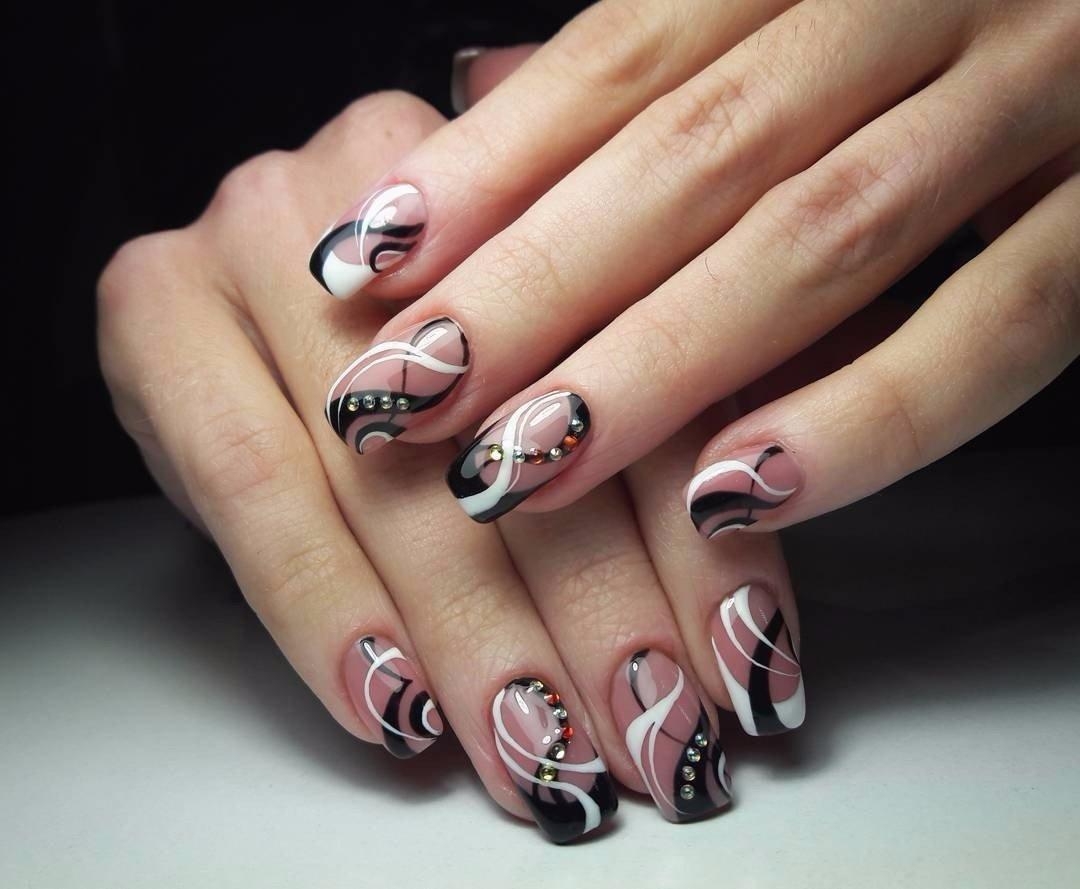 картинки ногтей гель френч с узорами является