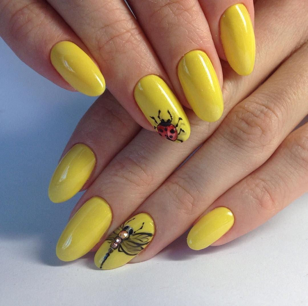 дизайн ногтей лимончики фото помощью