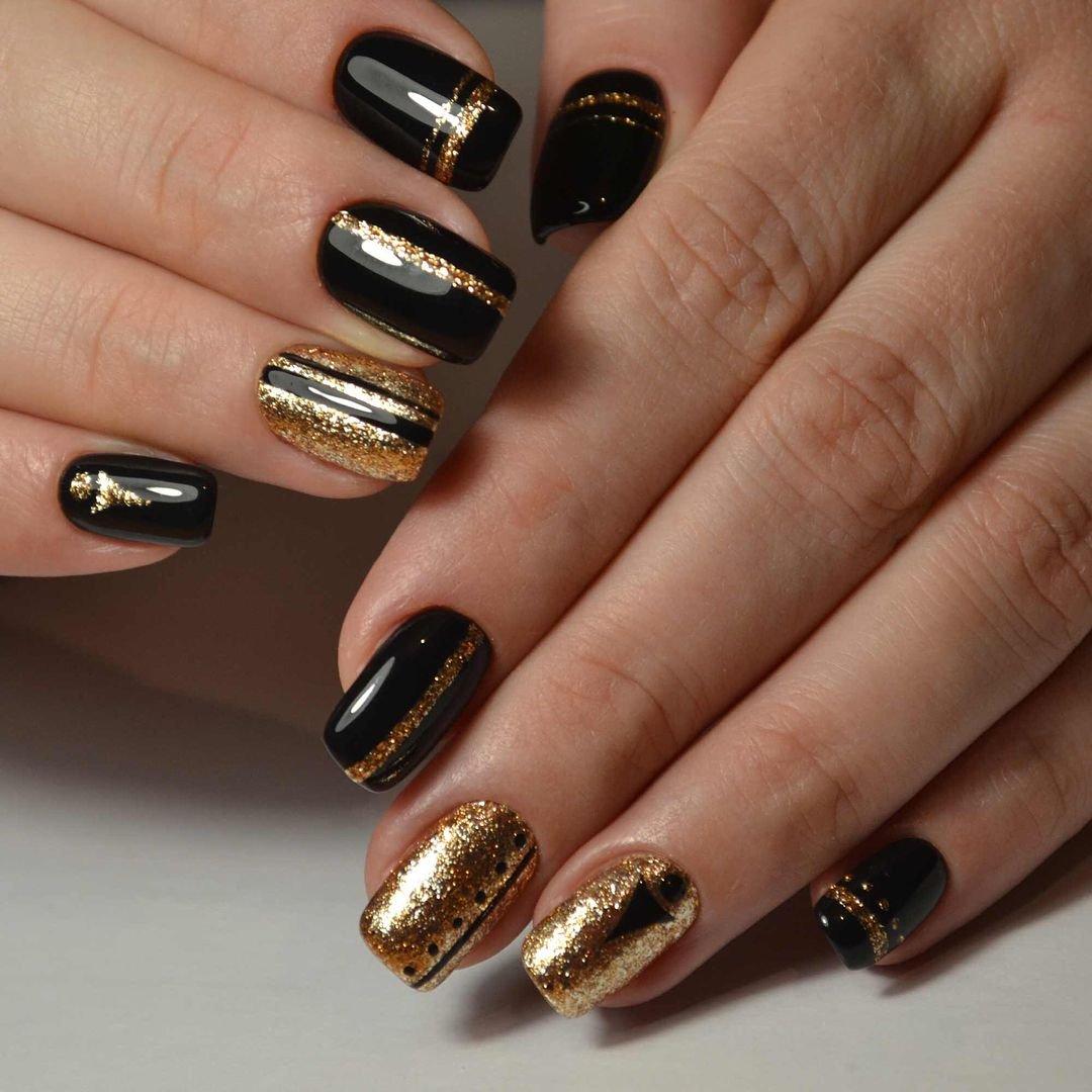 картинки черных ногтей с втиркой ангел плече