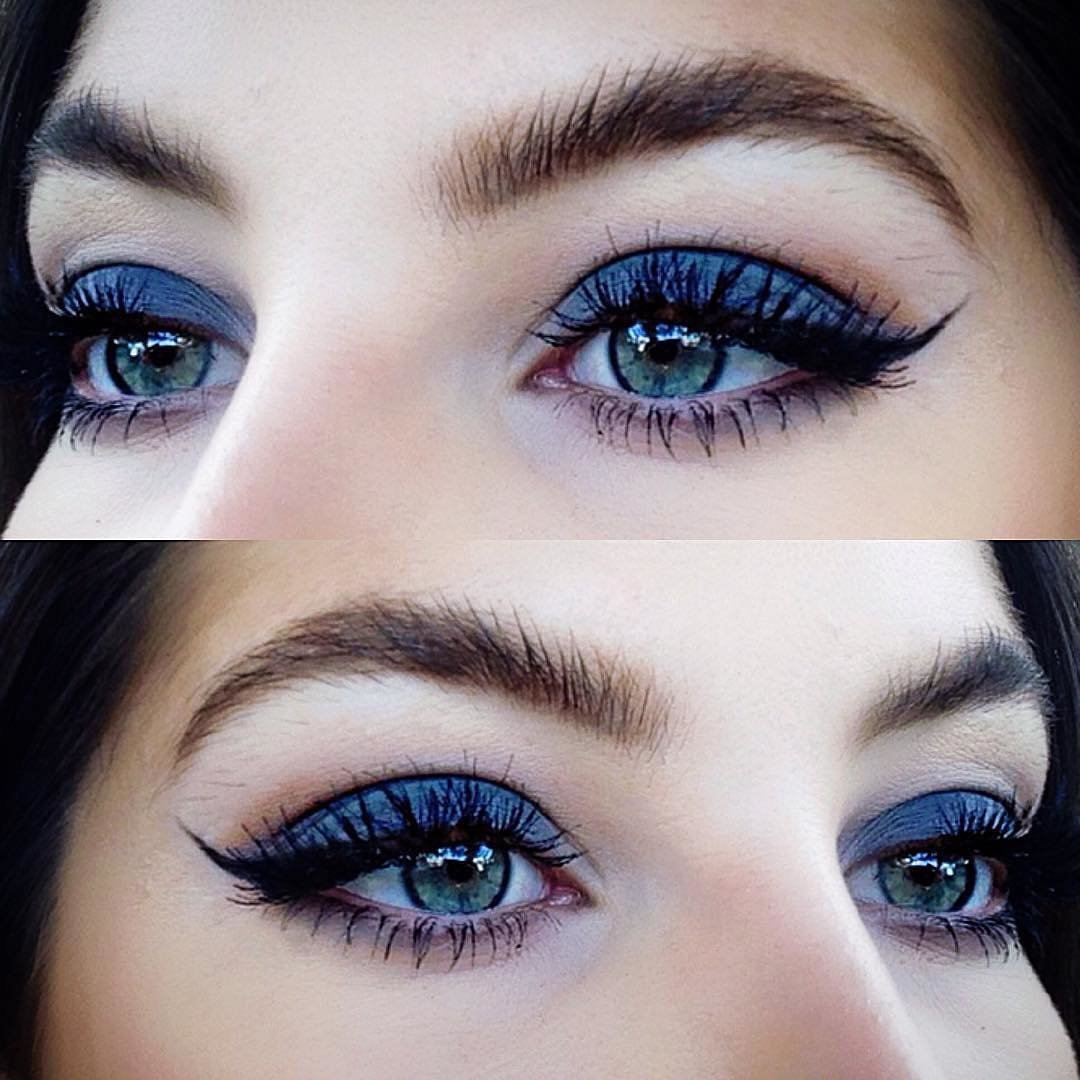 картинки макияжа для синих глаз
