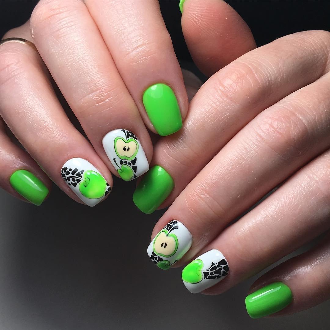 первым относятся дизайн ногтей с яблоком фото как правило
