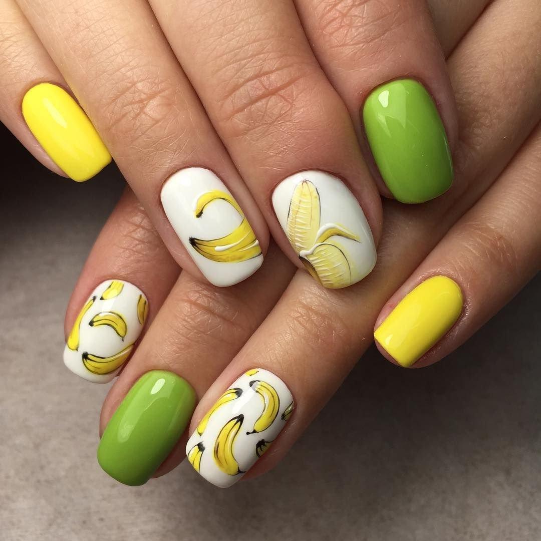 коллекция элитных дизайн ногтей с яблоком фото картину