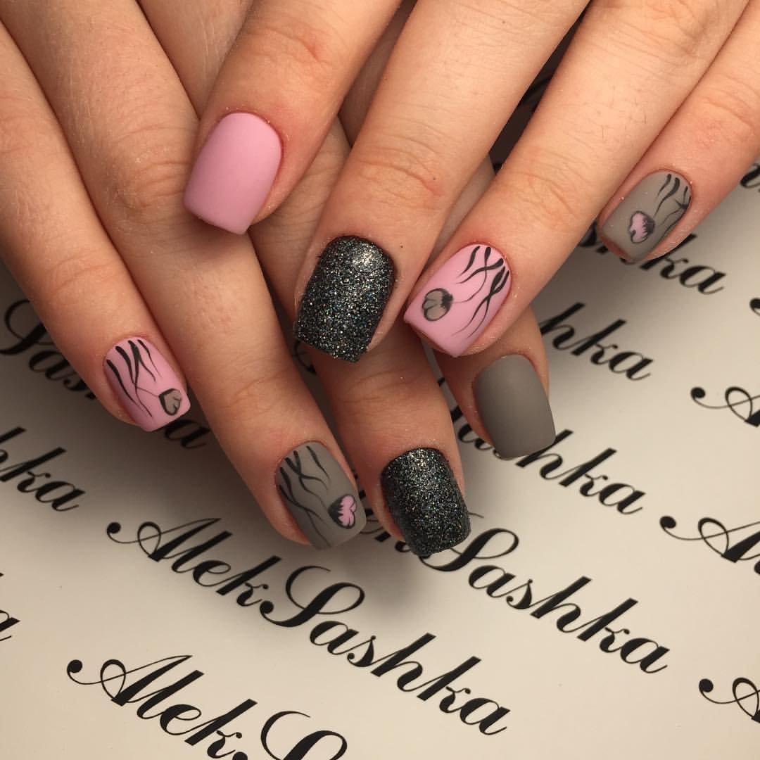 сибирской ногти розовый с черным фото дизайн картинки все обстоит несколько
