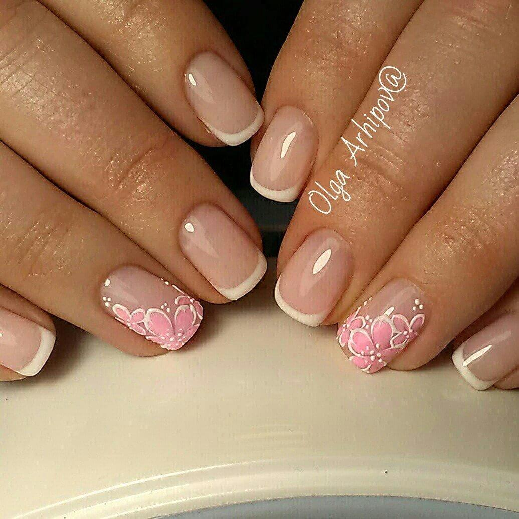 Рисунок на ногтях фото френч