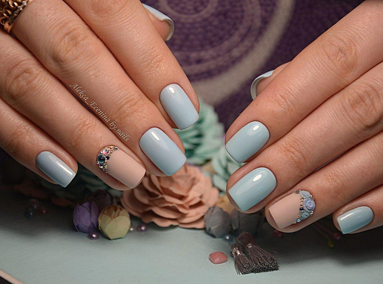 Маникюр в пастельных тонах для коротких и длинных ногтей: по