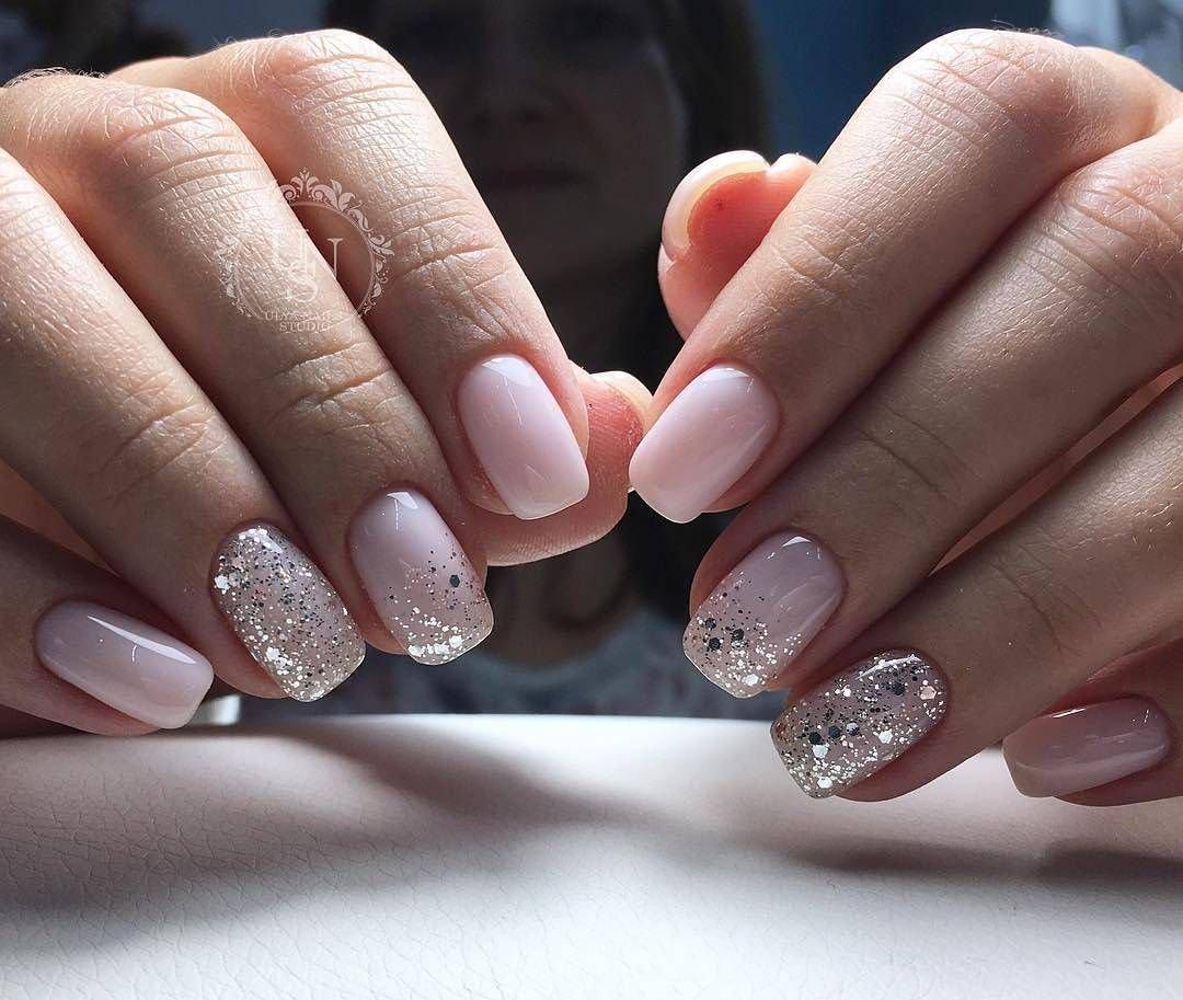 серебристый френч на ногтях фото одного