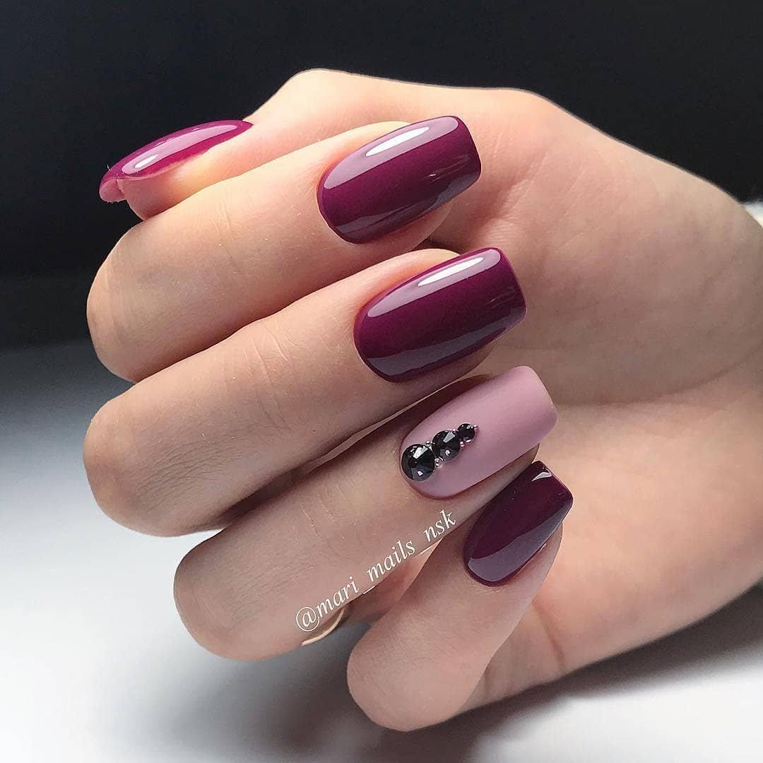 дизайн ногтей в два цвета фото украина приобрела